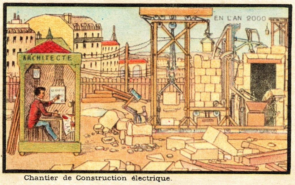 Chantier de construction électrique