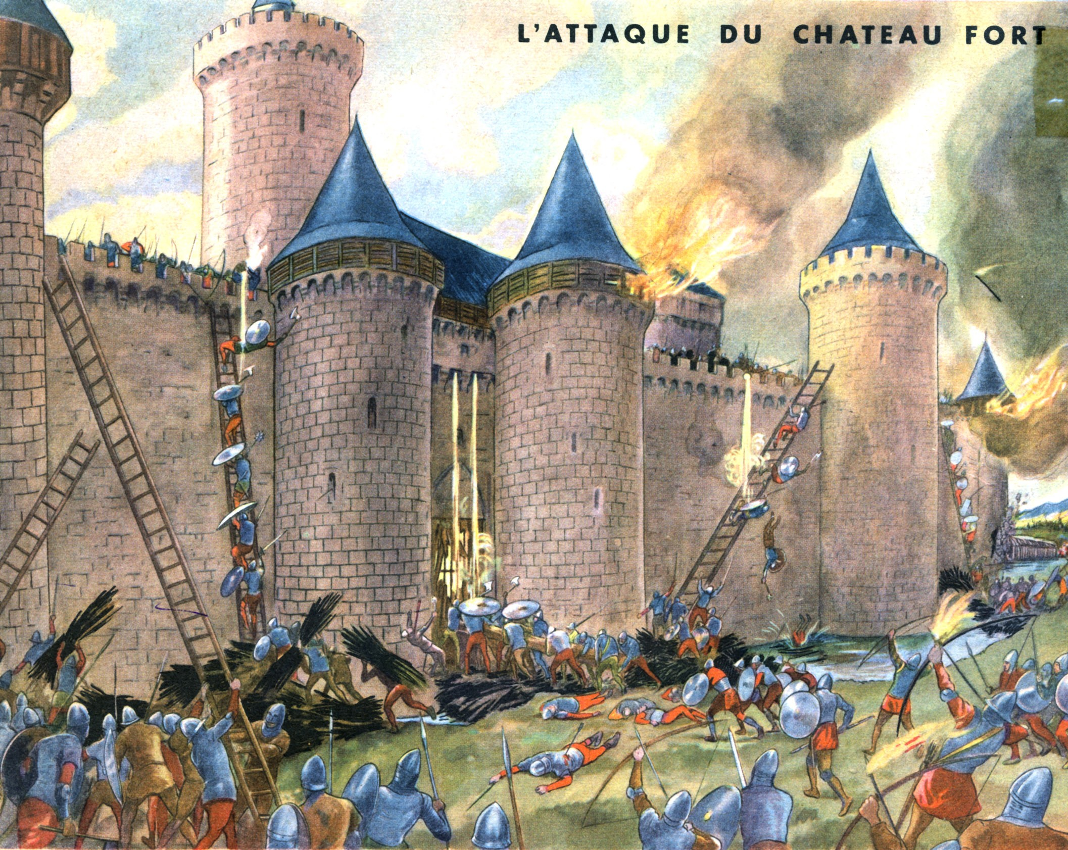 10 attaque du chateau fort