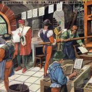 25 gutemberg utilise la presse a imprimer