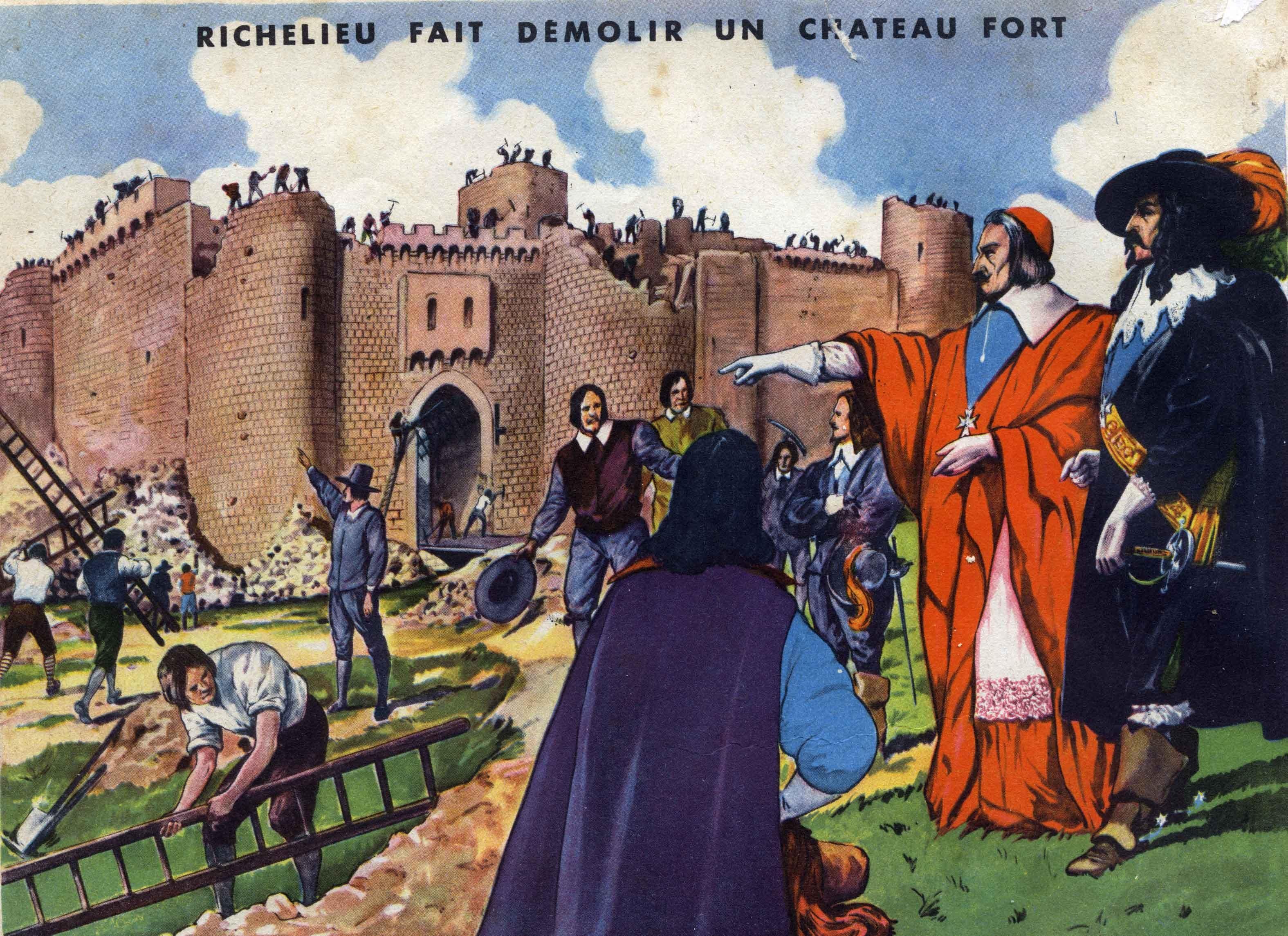 34 richelieu fait detruire un chateau fort