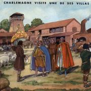 8 charlemagne visite une de ses villas
