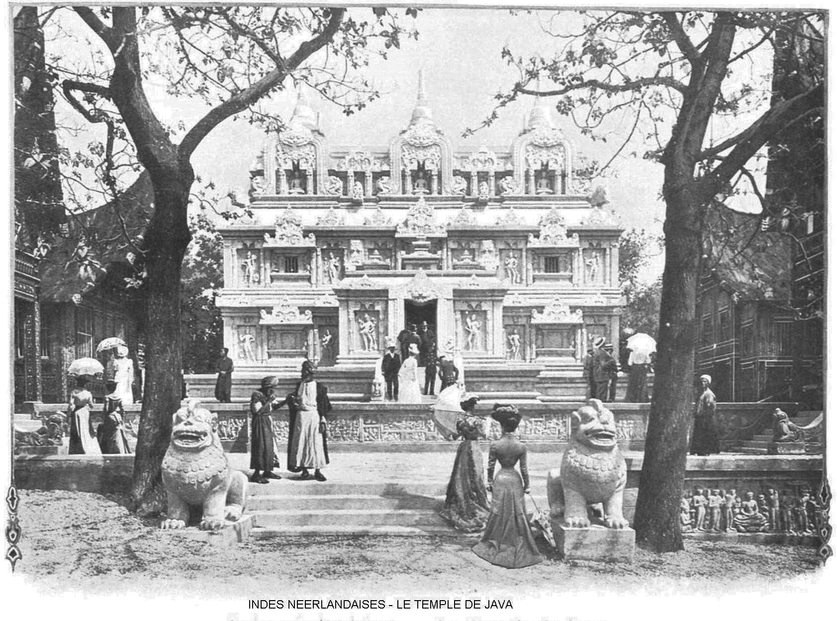 Indes neerlandaises le temple de java