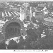 L expo vue depuis premiere plate forme de la tour eiffel