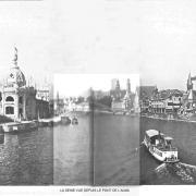 La seine vu depuis le pont de l alma