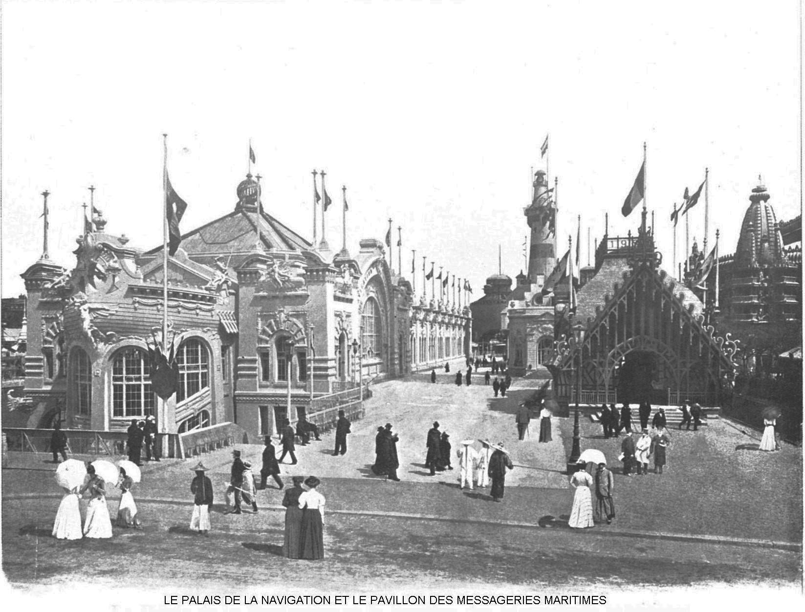 Le palais de la navigation et le pavillon des messageries maritimes