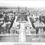 Le trocadero vu depuis la tour eiffel