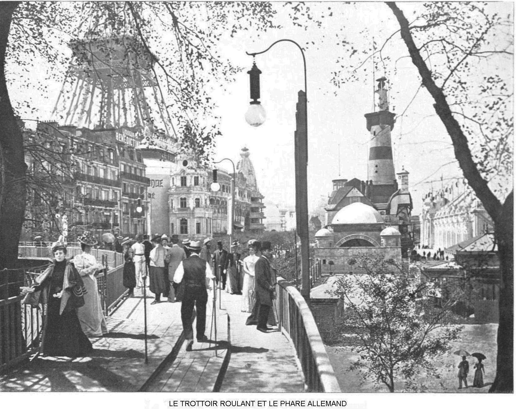 Le trottoir roulant et le phare allemand