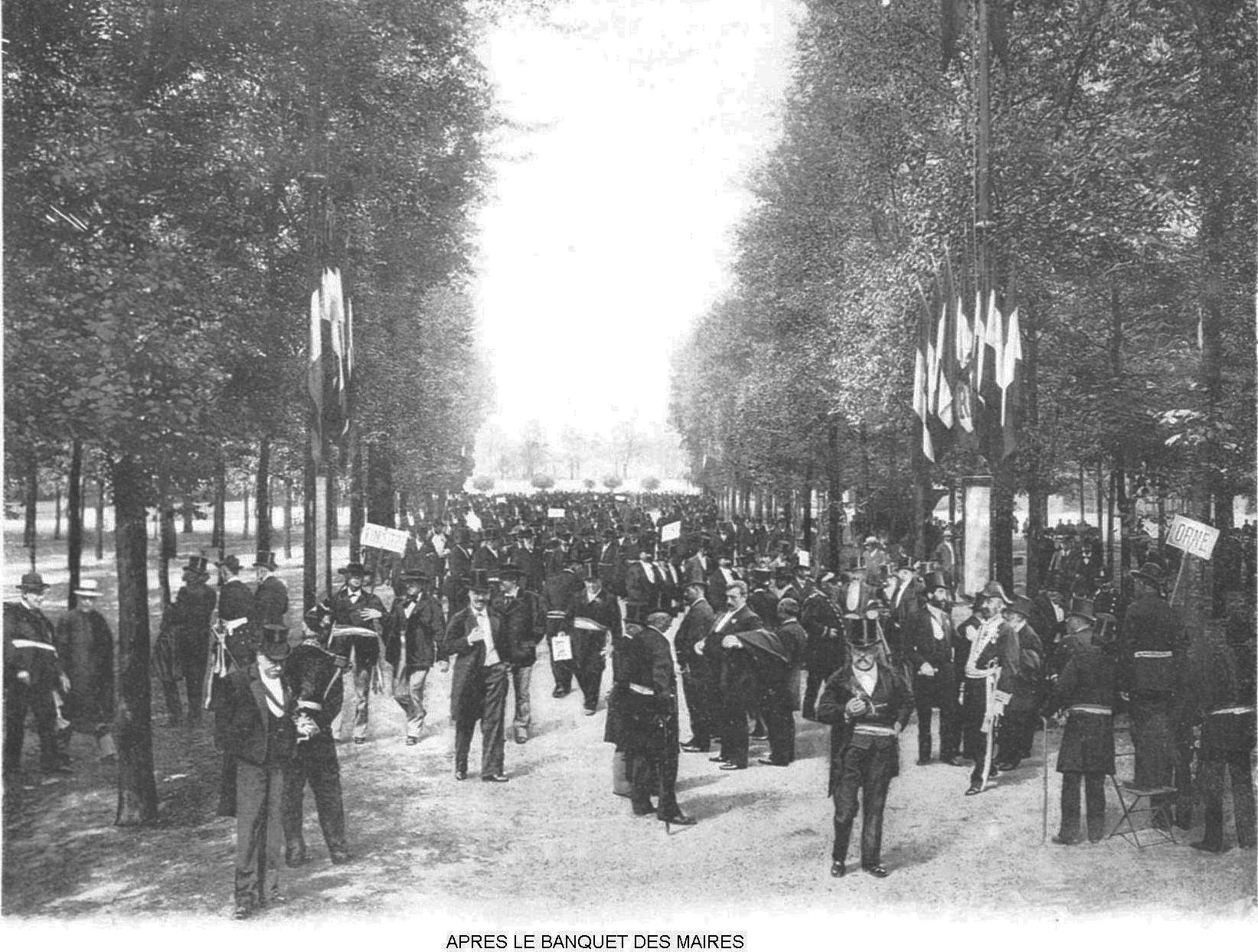 Ressources histoire exposition universelle 1900 apres le banquet des maires