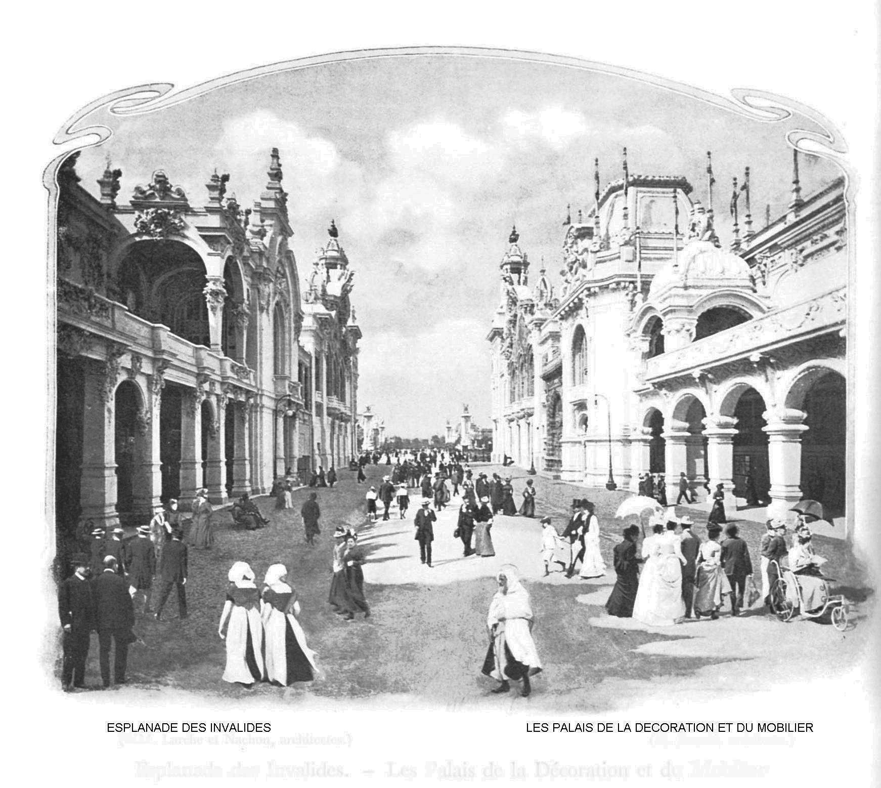Ressources histoire exposition universelle 1900 esplanades des invalides palais de la decoration et du mobilier