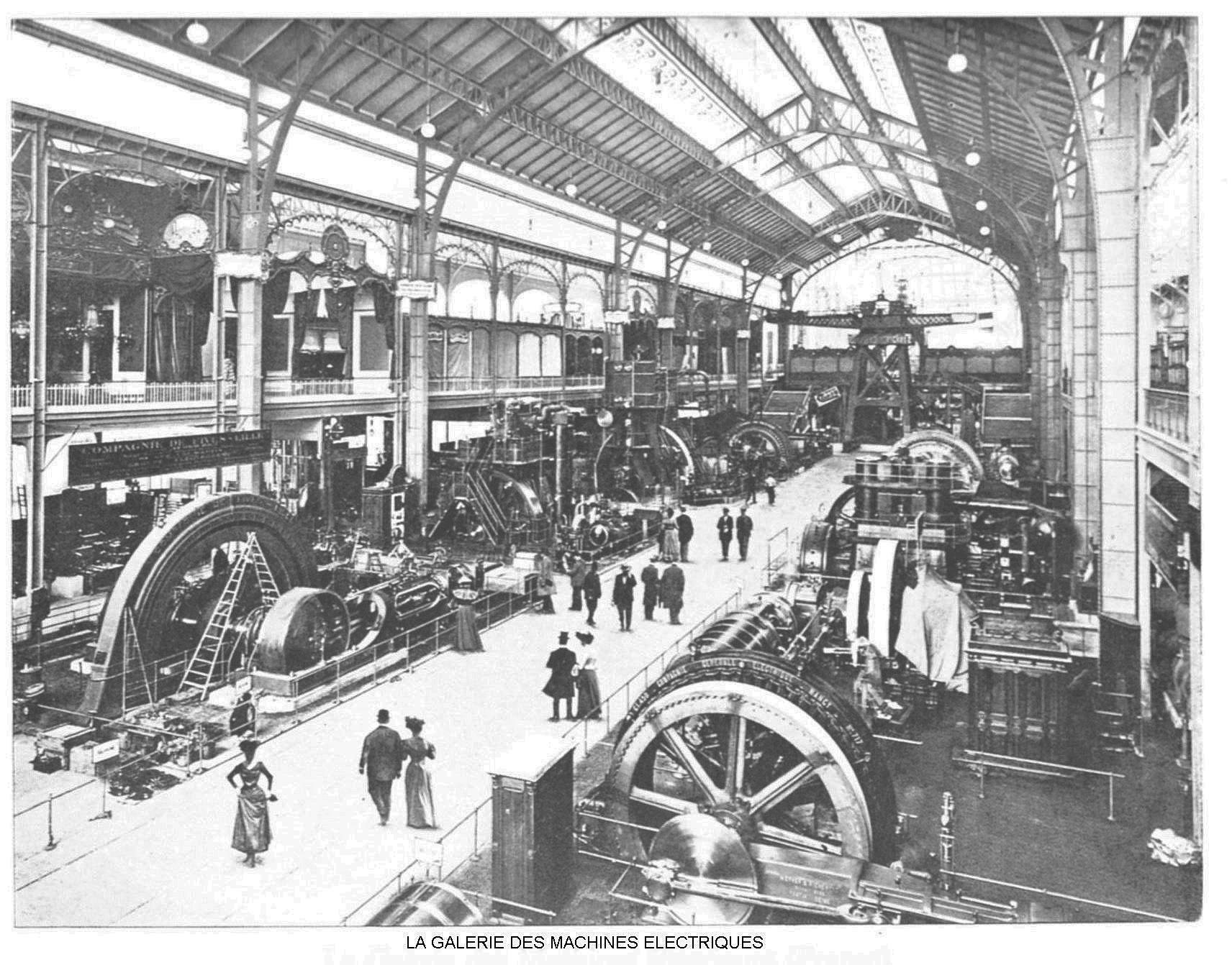 Ressources histoire exposition universelle 1900 la galerie des machines electriques