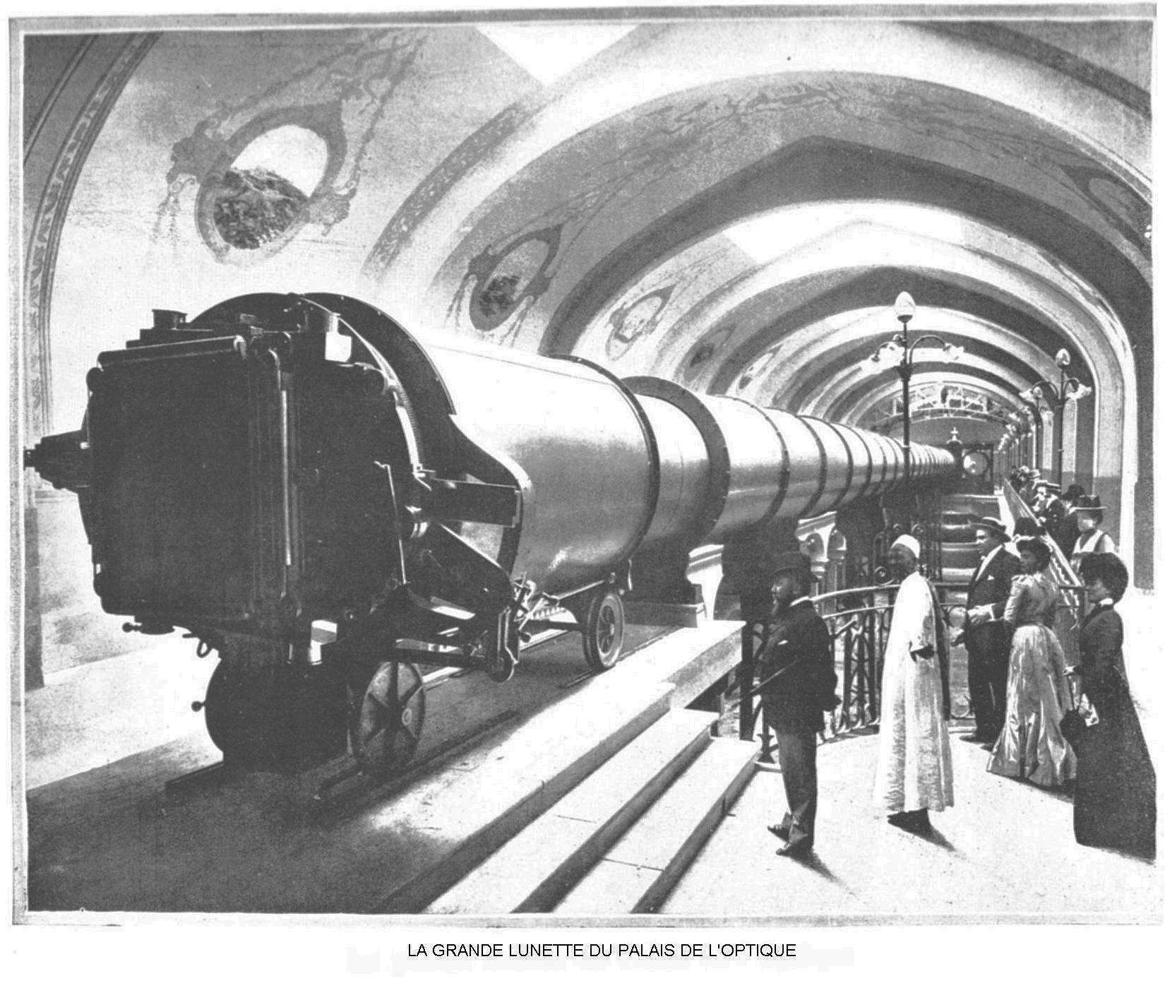 Ressources histoire exposition universelle 1900 la grande lunette du palais de l optique