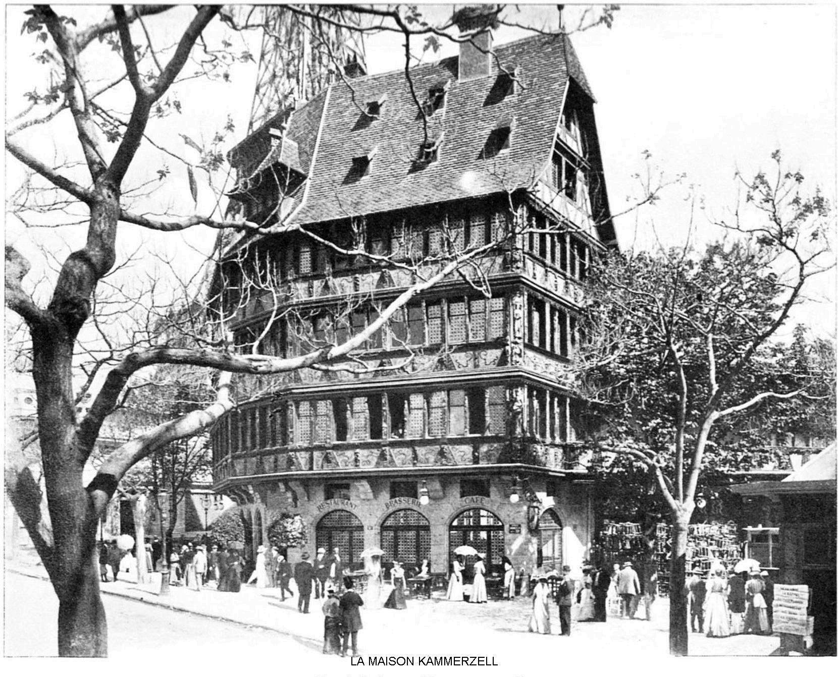 Ressources histoire exposition universelle 1900 la maison kammerzell
