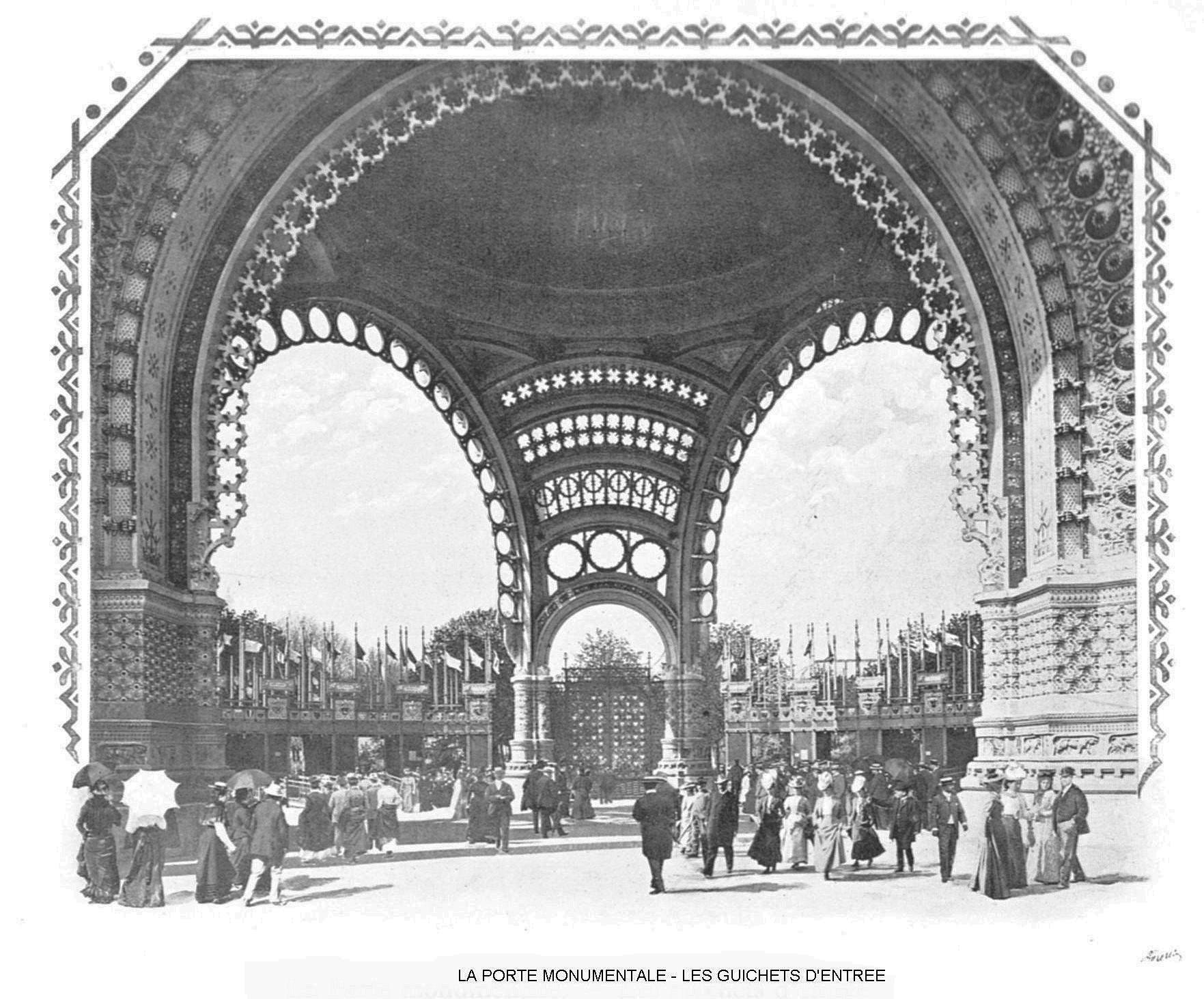 Ressources histoire exposition universelle 1900 la porte monumentale les guichets d entree