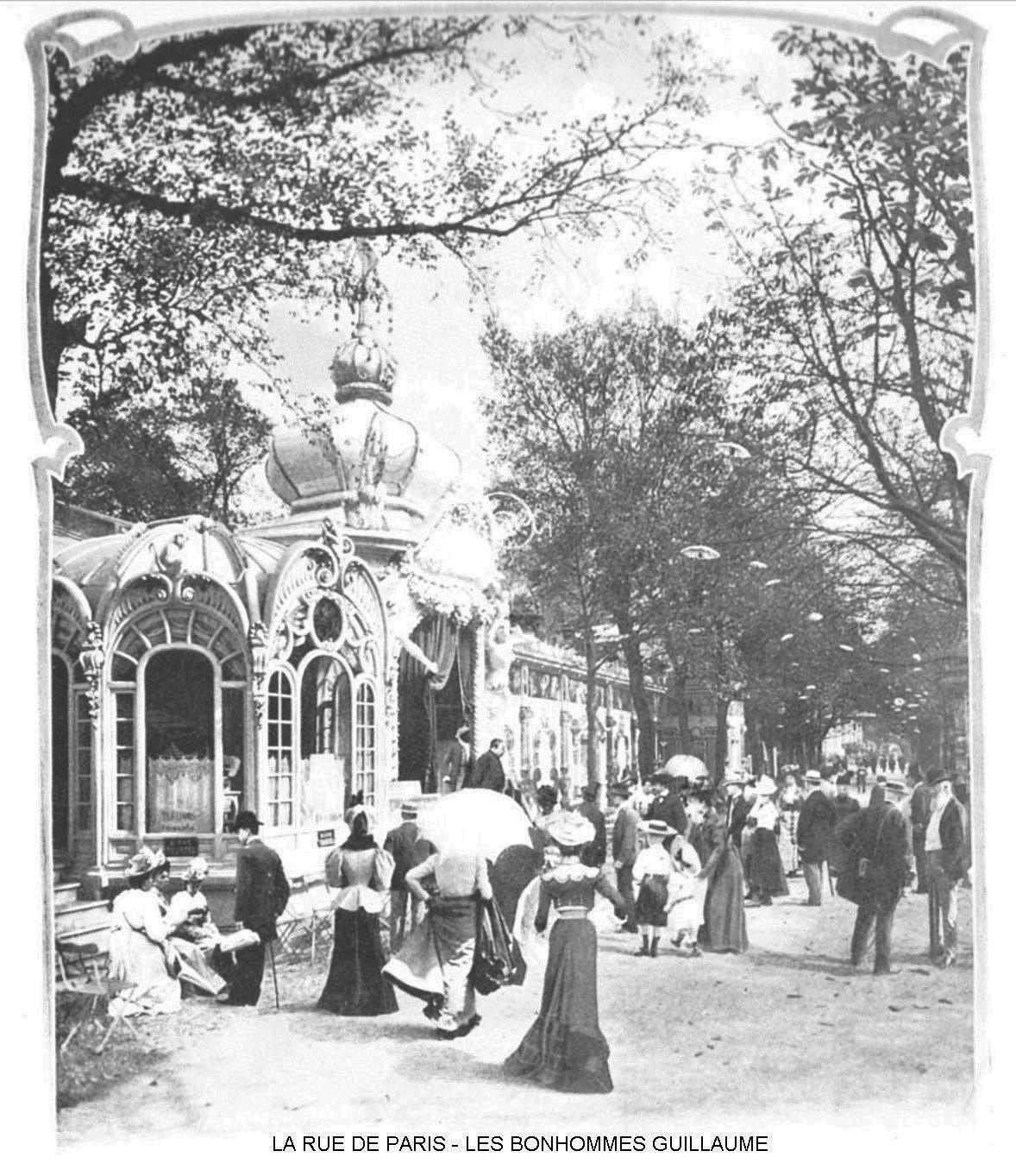 Ressources histoire exposition universelle 1900 la rue de paris les bonhommes guillaume