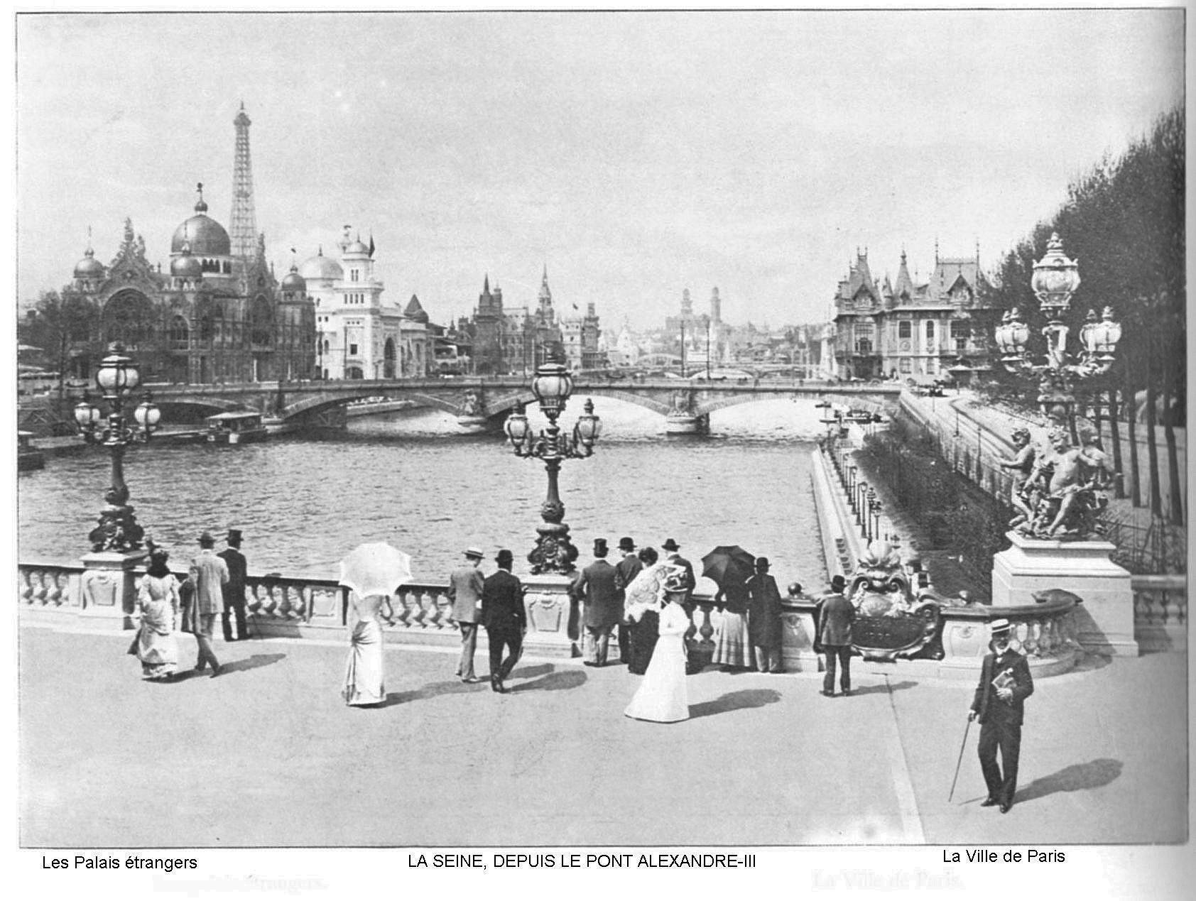 Ressources histoire exposition universelle 1900 la seine depuis le pont alexandre iii