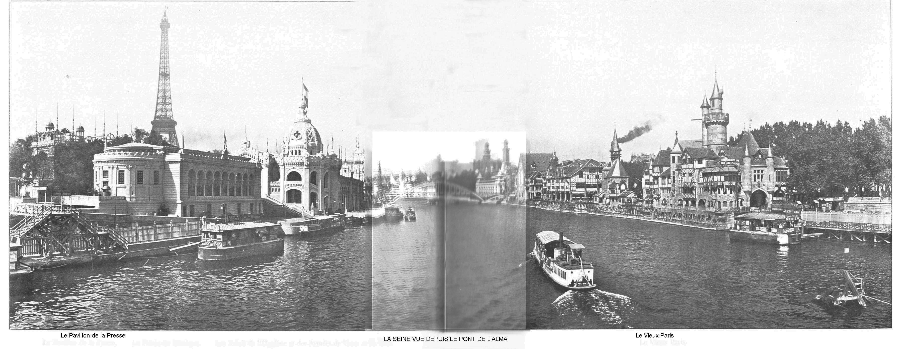 Ressources histoire exposition universelle 1900 la seine vu depuis le pont de l alma
