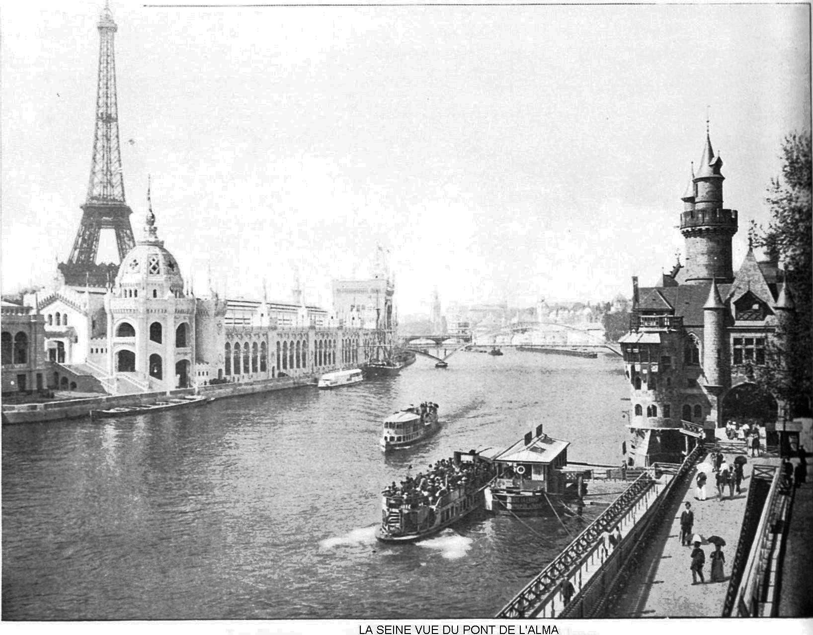 Ressources histoire exposition universelle 1900 la seine vue du pont de l alma