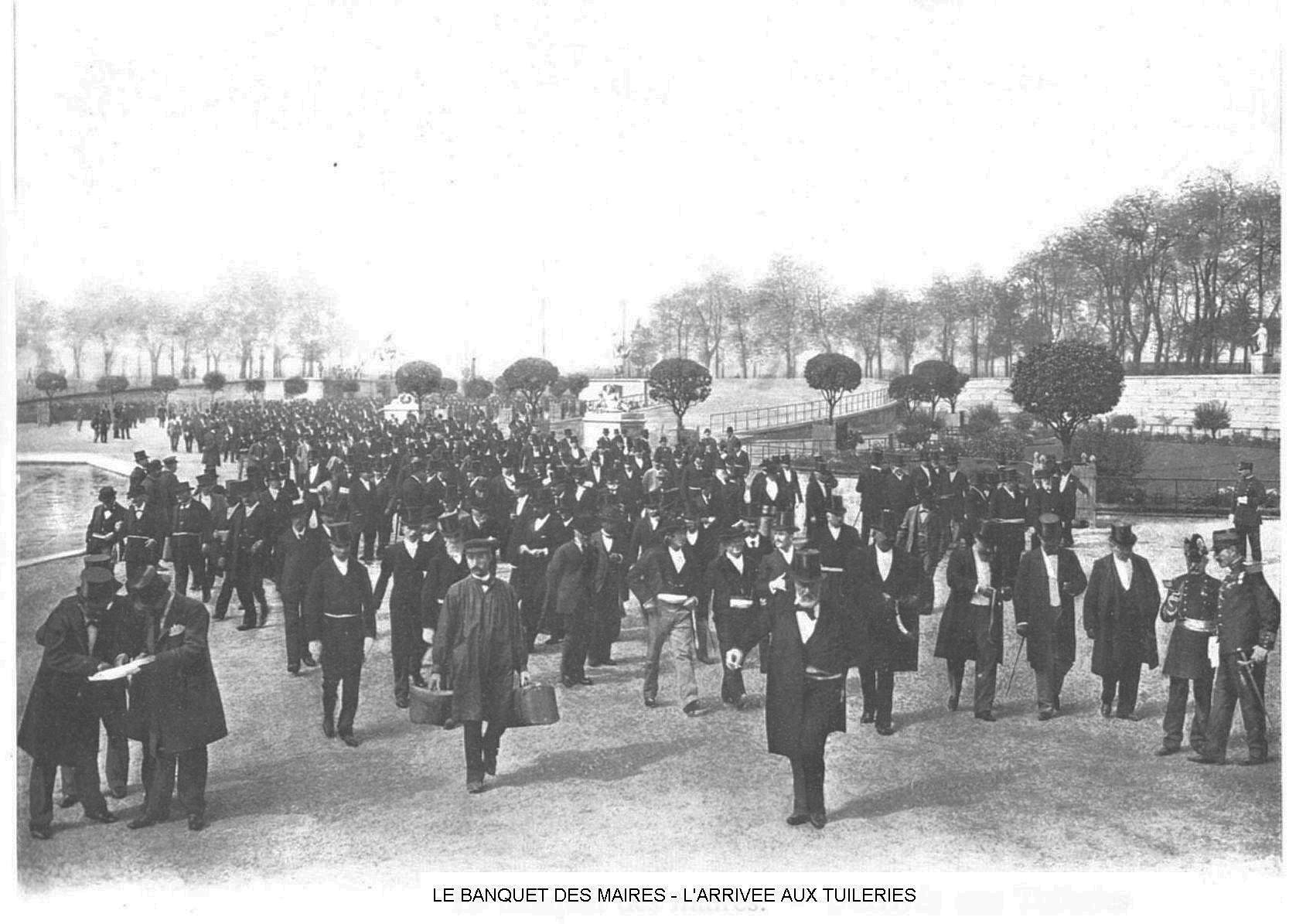 Ressources histoire exposition universelle 1900 le banquet des maires arrivee aux tuileries