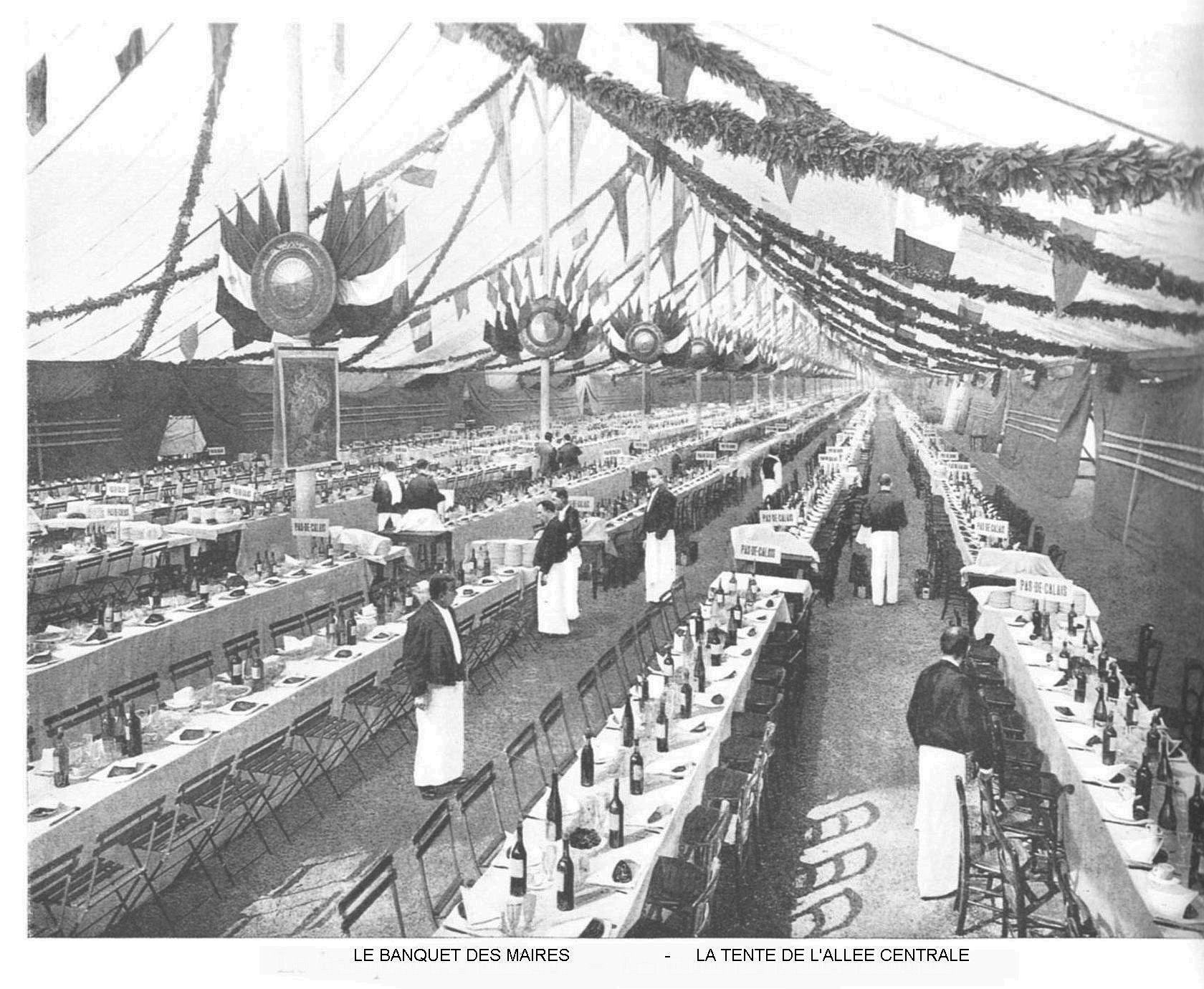 Ressources histoire exposition universelle 1900 le banquet des maires la tente de l allee centrale jpg
