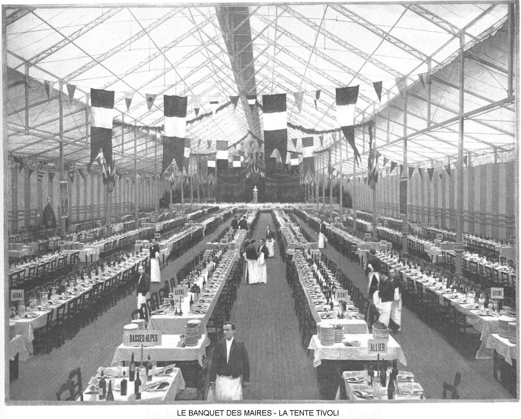Ressources histoire exposition universelle 1900 le banquet des maires la tente tivoli