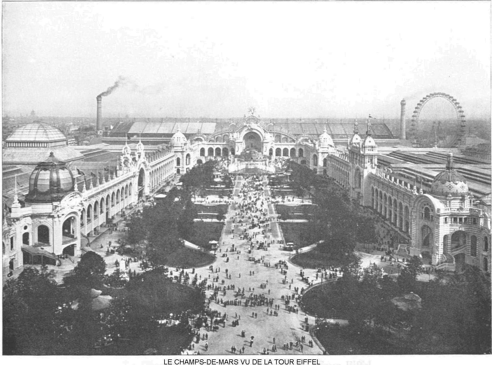 Ressources histoire exposition universelle 1900 le champ de mars vu de la tour eiffel