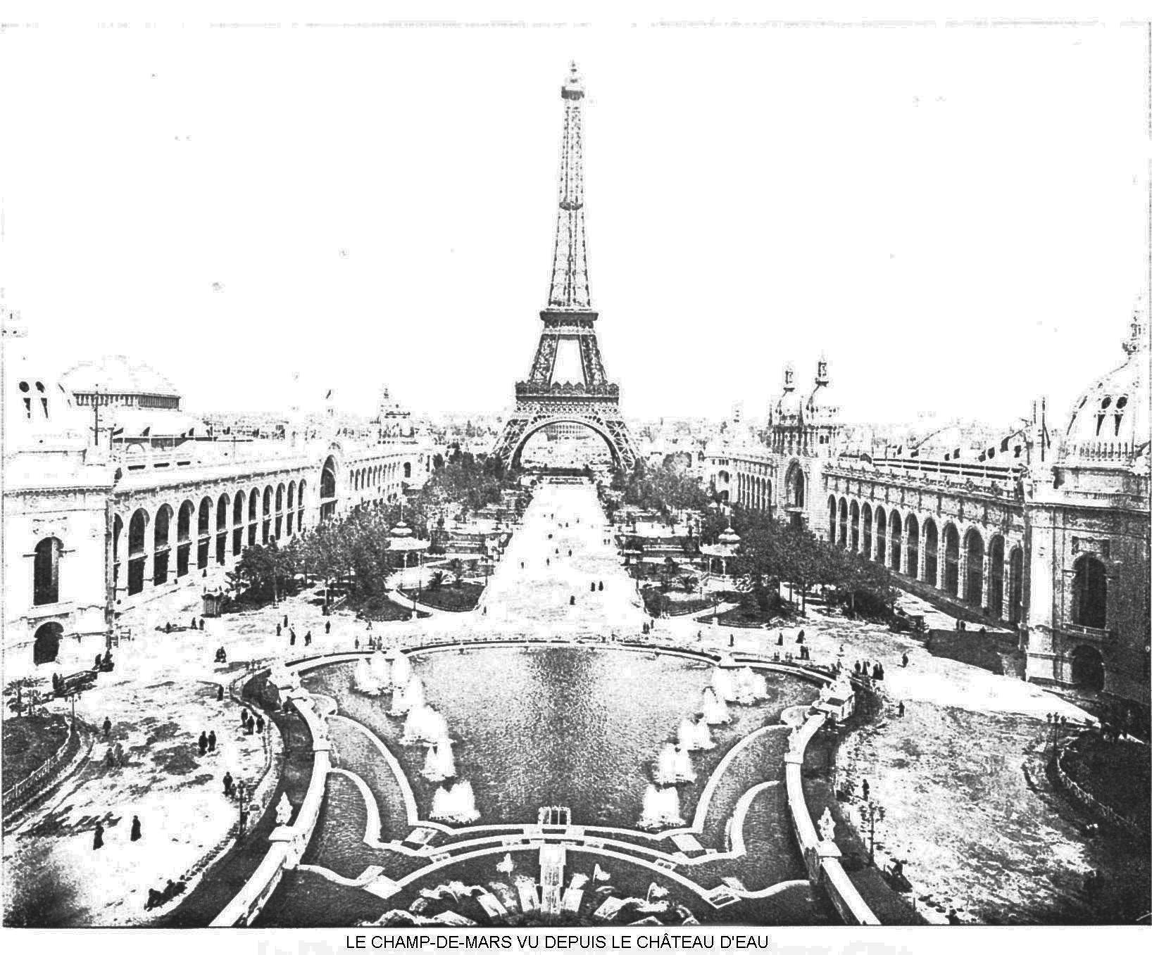Ressources histoire exposition universelle 1900 le champ de mars vu depuis el chateau d eau