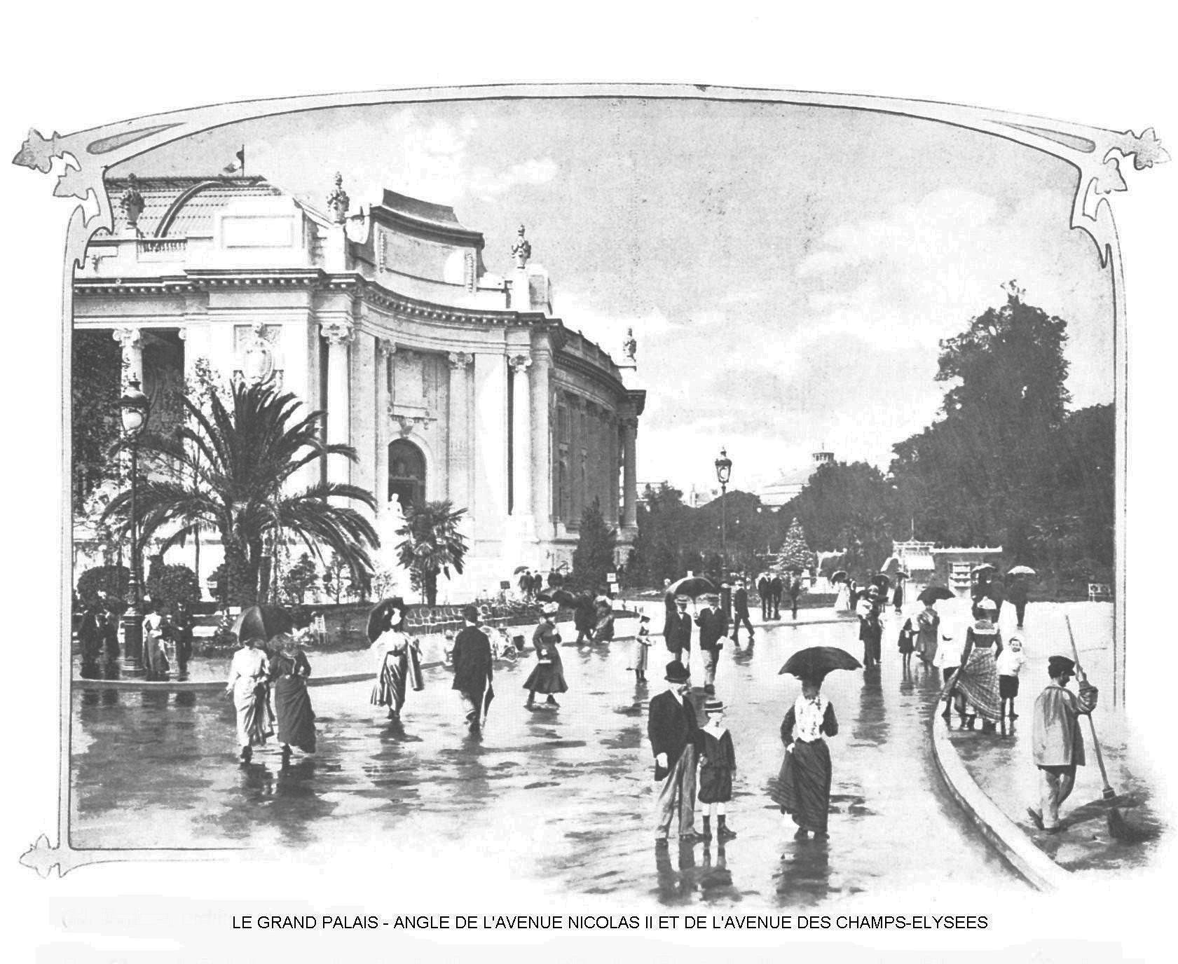Ressources histoire exposition universelle 1900 le grand palais angle de l avenue nicolas ii et de l avenue des champs elysees