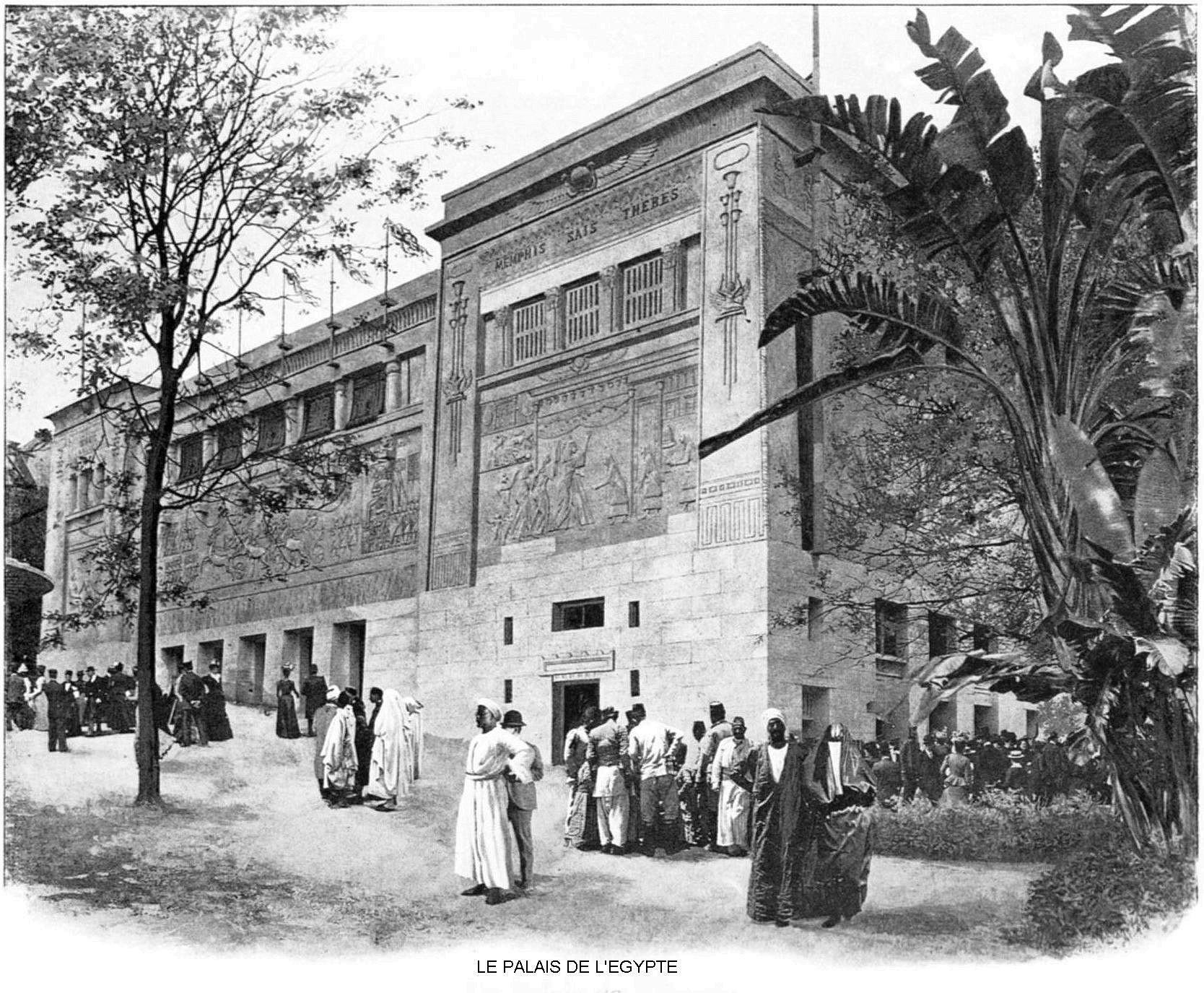Ressources histoire exposition universelle 1900 le palais de l egypte