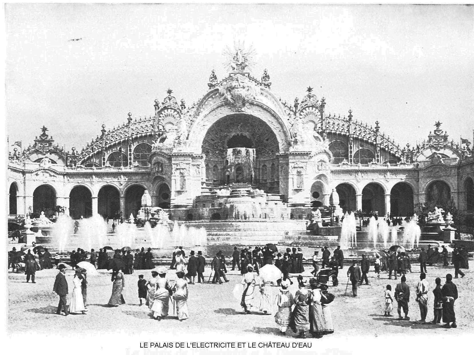 Ressources histoire exposition universelle 1900 le palais de l electricite et le chateau d eau