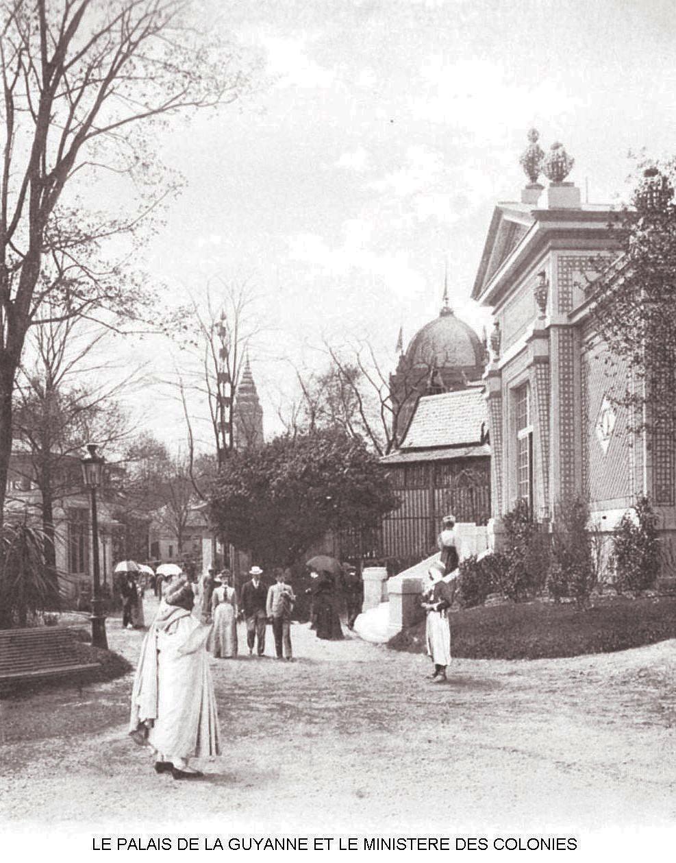 Ressources histoire exposition universelle 1900 le palais de la guyanne et le ministere des colonies