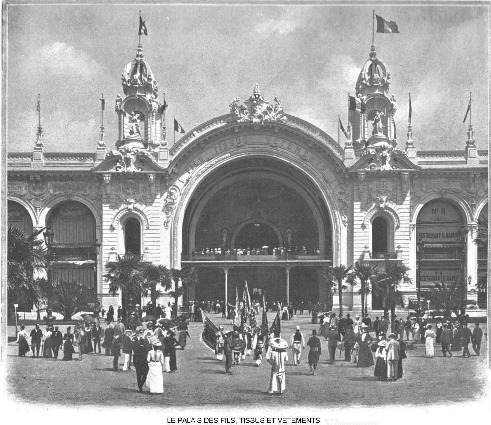 Ressources histoire exposition universelle 1900 le palais des fils tissus et vetements