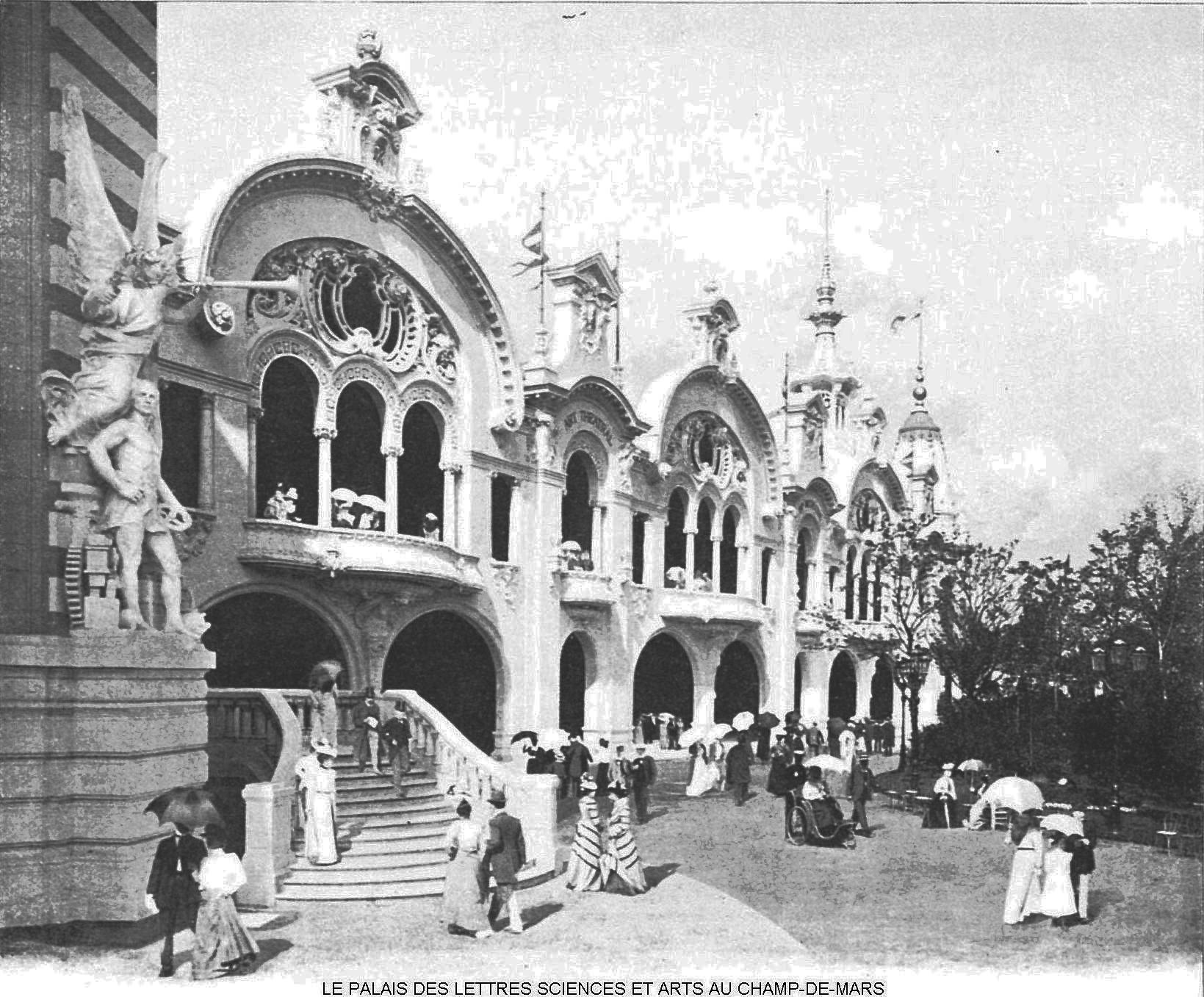 Ressources histoire exposition universelle 1900 le palais des lettres arts sciences